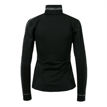 Inphorm Olivia Half Zip Top - Black/Heather Black