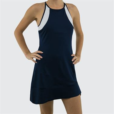Inphorm Classic Daphne Dress - Navy/White