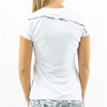 Inphorm Graphite Daphne Short Sleeve Top Womens White/Graphite F19013 0145