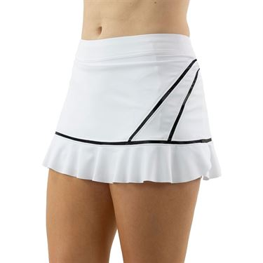 Inphorm Vibrant Mod Angelika Bottom Ruffle Skirt Womens White/Black F20012 009û