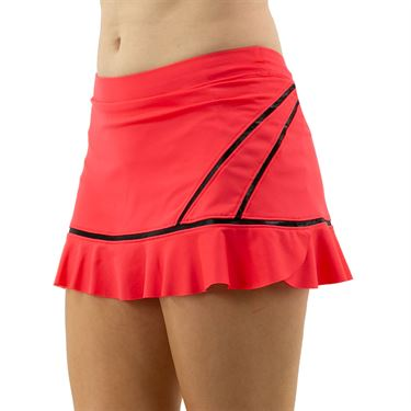 Inphorm Vibrant Mod Angelika Bottom Ruffle Skirt Womens Vibrant Red/Black F20012 0210û