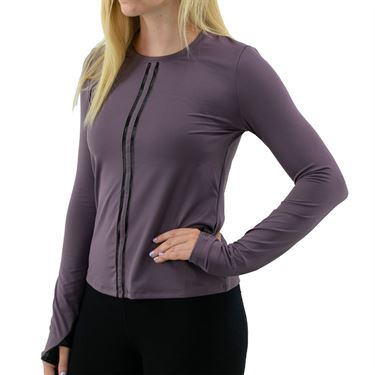 Inphorm Core Harper Long Sleeve Top Womens Deep Blush/Black F20025 0181