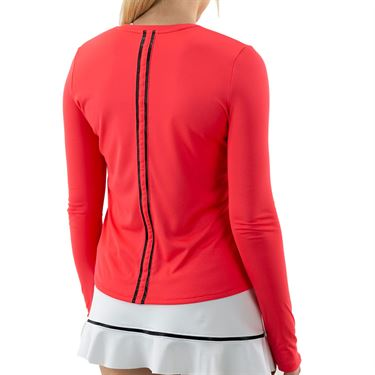 Inphorm Vibrant Mod Harper Long Sleeve Top Womens Vibrant Red/Black F20025 0210û
