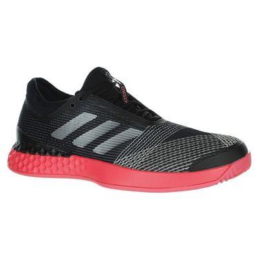 adidas adiZero Ubersonic 3 Mens Tennis Shoe - Black/Silver/Red