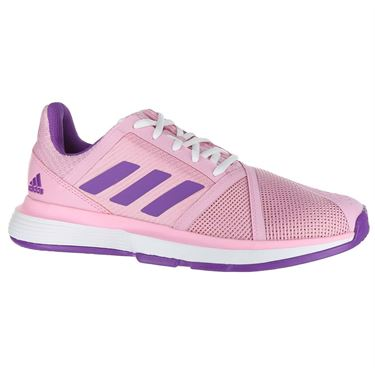 adidas Court Jam Bounce Multicourt Womens Tennis Shoe - True Pink/Active Purple/White