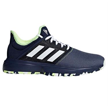 adidas Game Court Multicourt Mens Tennis Shoe - Collegiate Navy/White/Hi Res Yellow