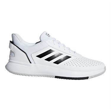adidas Court Smash Mens Tennis Shoe - White/Black