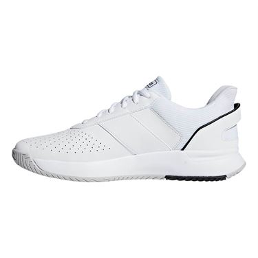 adidas Court Smash Mens Tennis Shoe - White/Black