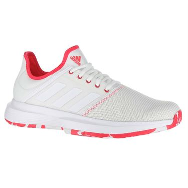 adidas Game Court Multicourt Womens Tennis Shoe - White/Shock Red