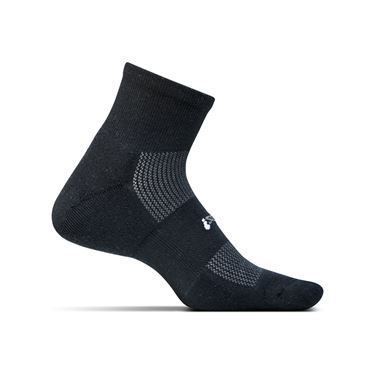Feetures Cushion Quarter Sock - Black