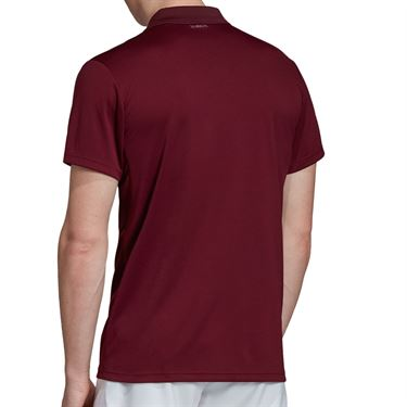adidas Club Rib Polo - Maroon