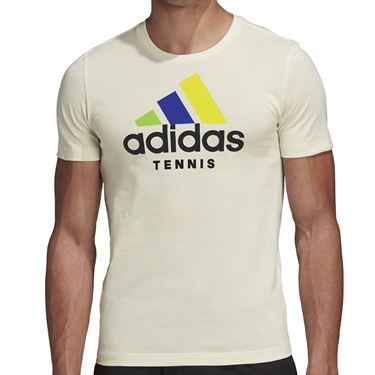 adidas Logo Ltd Edition Tee Shirt Mens Cream White FI8187