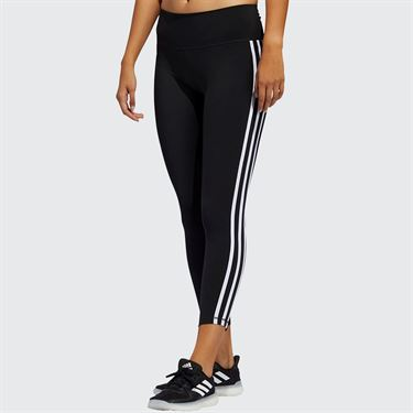 adidas 3 Stripe Legging Womens Black/White FJ7181