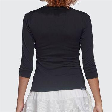 adidas 3/4 Sleeve Top Womens Black/Night Metallic FK0756