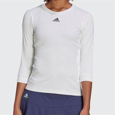 adidas 3/4 Sleeve Top Womens White/Black FK0757