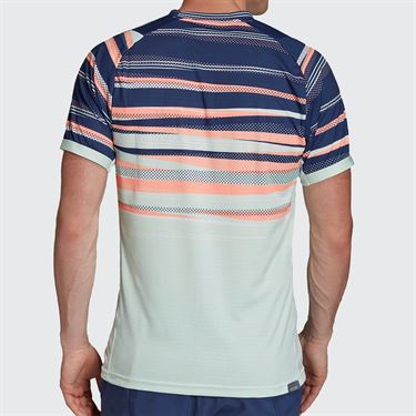 adidas Tee Shirt Mens Dash Green/Tech Indigo FK0803