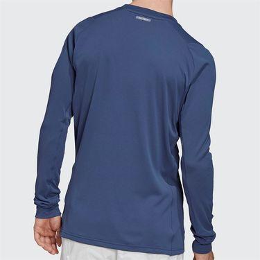 adidas Long Sleeve Tee Shirt Mens Tech Indigo/Night Metallic FK0808
