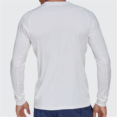adidas Long Sleeve Tee Shirt Mens White/Night Metallic FK0809