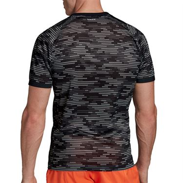 adidas Primeblue Tee Shirt Mens Black/True Orange FK0810