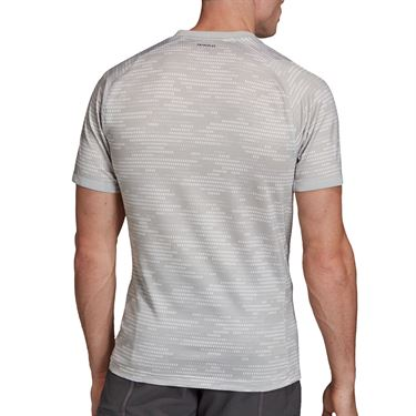 adidas Primeblue Tee Shirt Mens Grey Two/Grey Six FK0811