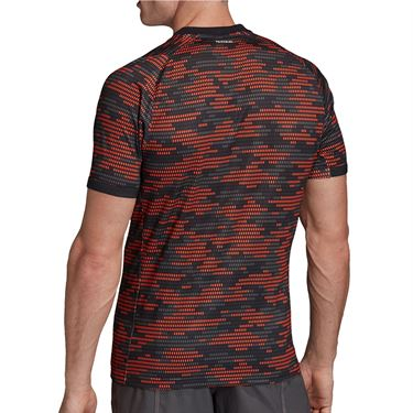 adidas Primeblue Tee Shirt Mens True Orange/White FK0820