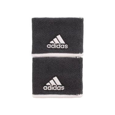 adidas Tennis Small Wristband - Grey Six/White