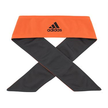 adidas Tennis Reversible Tieband - True Orange/Grey Six