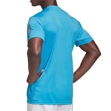 adidas Club 3 Stripe Tee Shirt Mens Fresh Splash/Grey Six FK6956
