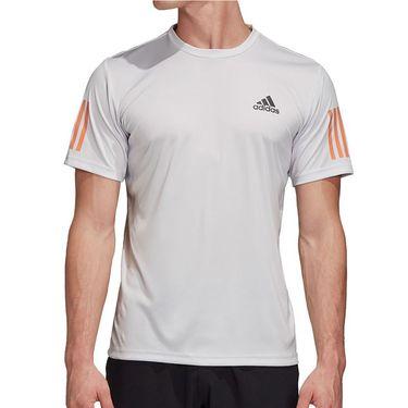 adidas Club 3 Stripe Tee Shirt Mens Dash Grey/Grey Six FK6957