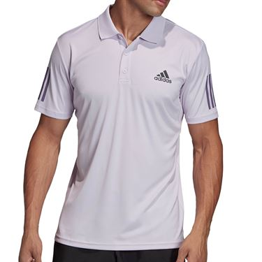 adidas Club 3 Stripe Polo Mens Purple Tint/Grey Six FK6966