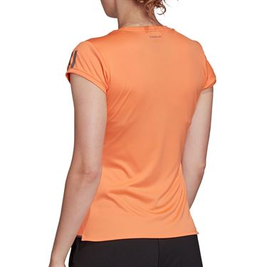 adidas Club 3 Stripe Tee Shirt Womens Amber Tint/Grey Six FK6975