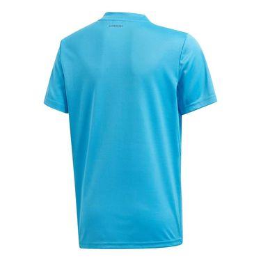 adidas Boys Club 3 Stripe Tee Shirt Fresh Splash/Grey Six FK7129
