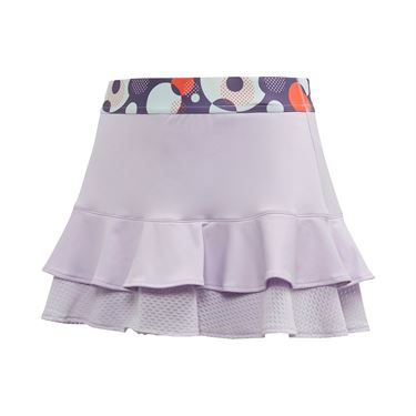 adidas Girls Frill Skirt Purple Tint/Shock Yellow FK7138