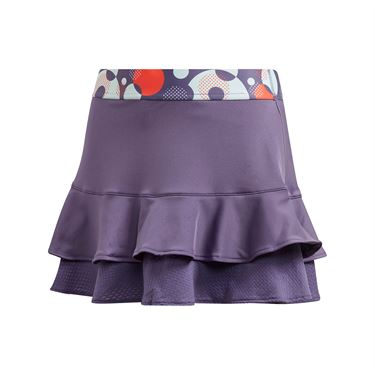 adidas Girls Frill Skirt Tech Purple/Shock Yellow FK7139