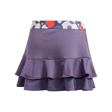 adidas Girls Frill Skirt Tech Purple/Shock Yellow FK7139