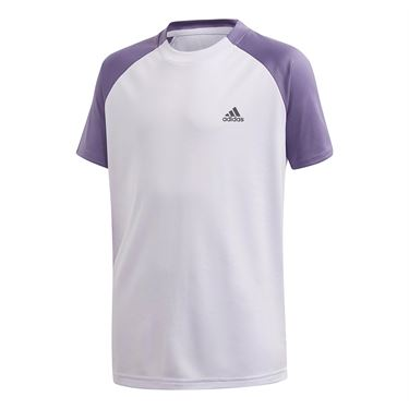 adidas Boys Club Tee Shirt Purple Tint/Tech Purple FK7155