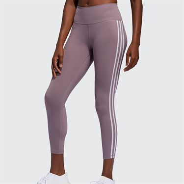 adidas 3 Stripe Legging Womens Legacy Purple/Purple Tint FL2256