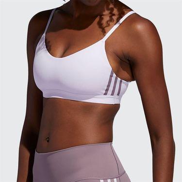 adidas AM 3 Stripe Sports Bra Womens Purple Tint/Legacy Purple FL2376