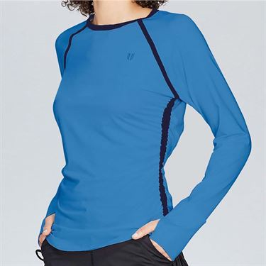 Eleven Flashes Tangle Long Sleeve Top Womens Marine Blue FL4294 412