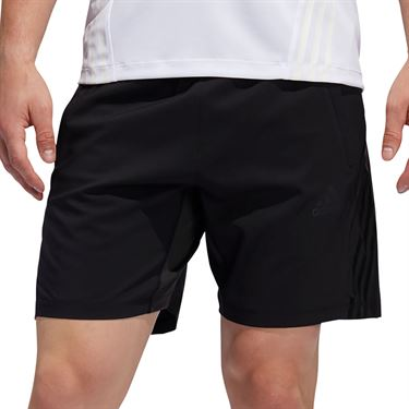 adidas Aero 3 Stripe Short Mens Black FL4389