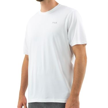 Fila Short Sleeve Performance Crew- White