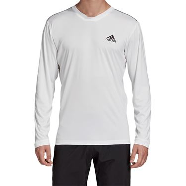 adidas UV Protect Long Sleeve Shirt Mens White/Black FM2542