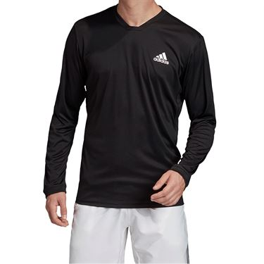 adidas UV Protect Long Sleeve Shirt Mens Black/White FM2543