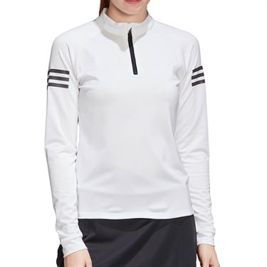 adidas Club Midlayer 1/4 Zip Womens White/Matte Silver/Black FM2547