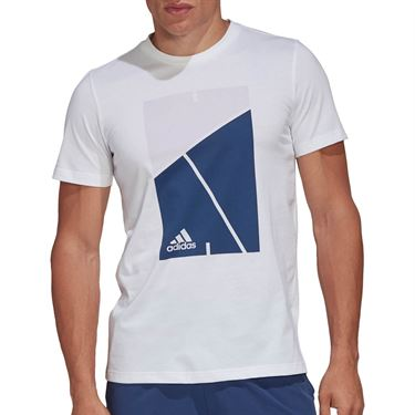 adidas Court Tee Shirt Mens White FM4414
