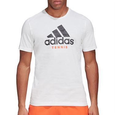 adidas Logo Tee Shirt Mens White FM4416