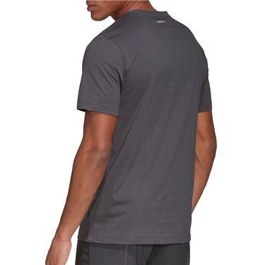 adidas Logo Tee Shirt Mens Grey Six FM4417