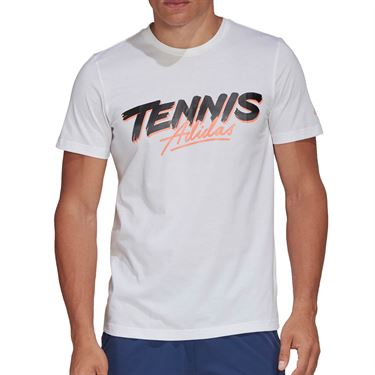 adidas Graphic Tee Shirt Mens White FM4420