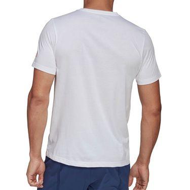 adidas Graphic Tee Shirt Mens White FM4420