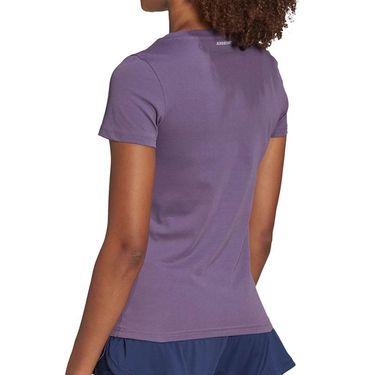 adidas Court Tee Shirt Womens Tech Purple FM4425